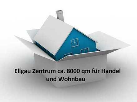 Zentrum von Ellgau 8.000 qm MI für Handel und Wohnbau