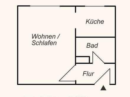 1-Raum-Wohnung in der Burgbreite mit Waldblick