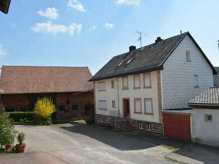 Freistehendes Einfamilienhaus mit Scheune, Werkstatt und großem Grundstück (Gewerbe möglich)