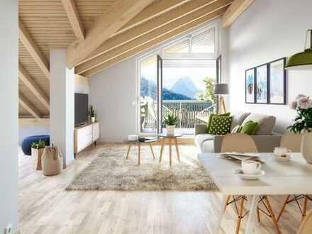 Komfortable 4-Zimmer-Dachgeschosswohnung mit Loggia und Balkon