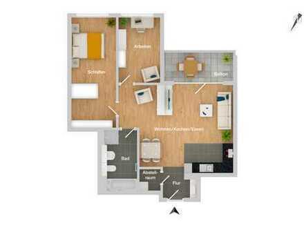 Hervorragende 3-Zimmer-Erdgeschosswohnung in toller Lage