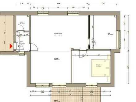 Erstbezug: Helle 2-Zimmer-Dachgeschosswohnung mit Balkon in Seligenstadt, Klein-Welzheim