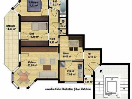 Attraktive, super schöne+helle 3 1/2 Zimmerwohnung mit EBK, Top-Lage - prov.fr