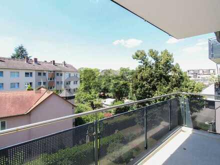 Natur- und zentrumsnah: Moderne 4-Zi.-ETW mit SW-Balkon und TG-Stellplatz in Niederrad - Erbpacht