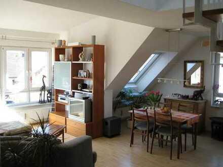 Helle 3 1/2-Zimmer-DG-Maisonette-Galerie-Wohnung in Echterdingen