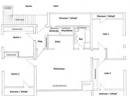 Ansprechende, vollständig renovierte 5-Zimmer-Dachgeschosswohnung zur Miete in Ungerhausen