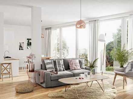 NEUBAU • 4-Zimmerwohnung • 55m² Wohnküche • EBK mit Kochinsel • Fußbodenheizung • am Volkspark