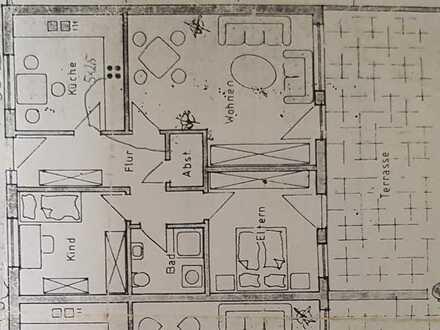 Bild_Erstbezug: günstige 2-Zimmer-Wohnung mit Terrasse in Grieben / Löwenbergerland