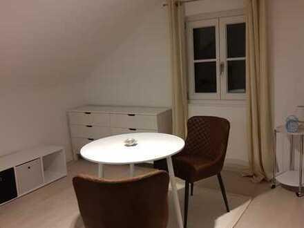 Schick möbliertes DG-Apartment mit Teeküche zu vermieten