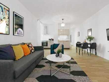 Möbliertes 2-Zimmer-Apartment mit Balkon in der Nähe der Spree