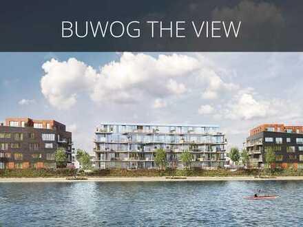 Elegantes Wohnen am Wasser! Hochwertige 2-Zimmer-Wohnung mit ca. 18 m² großem Balkon