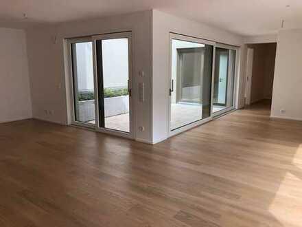 Neubau: elegante Wohnung mit hochwertiger Einbauküche
