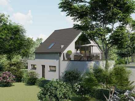 Besonderes EFH, rückwärtige Lage, Baugenehmigung, auf 317 m² (520 m² s.Text) Grund