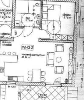 2 Zimmer Wohnung mit großen Wohnbereich barrierefrei