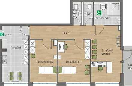 Repräsentativer Praxisraum in Neubau an zentralem Standort in Stammheim