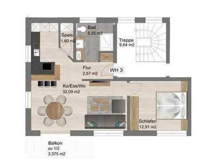 Neubauprojekt - Exklusive 58qm Wohnung in stadtnaher ruhiger Lage | sehr Audi nah