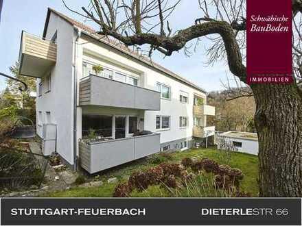 S-Feuerbach: Sehr attraktives, solides Mehrfamilienhaus mit 7 WE´s, 2 Garagen und 7 Stellplätzen +++