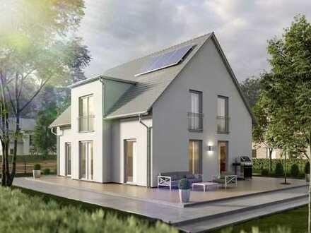 Strahlend und lauschig – ein Traumhaus für die Familie massiv gebaut in Westerheim