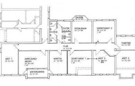 Großzügige Büro-/Praxisräume in zentraler Lage von Tauberbischofsheim zu vermieten