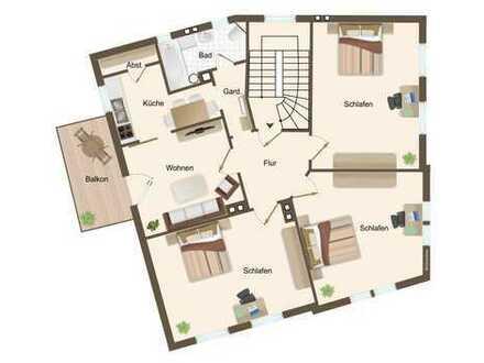 Schöne 3,5-Raum-Wohnung mit Balkon im Stadtteil Wüste