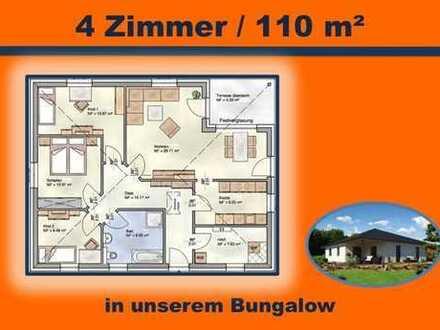 mit überdachter Terrasse - BUNGALOW 110 m² Wohnfläche