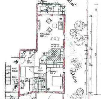 Gepflegte 3-Raum-Hochparterre-Wohnung mit Balkon in Saarland - Wallerfangen