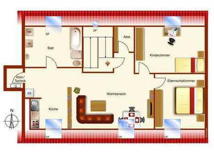 Nettes 3,5 Zimmer DG-Apartment sucht neuen Besitzer - sofort Frei
