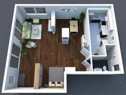 Helle Wohnung mit offener Küche - Loftcharakter