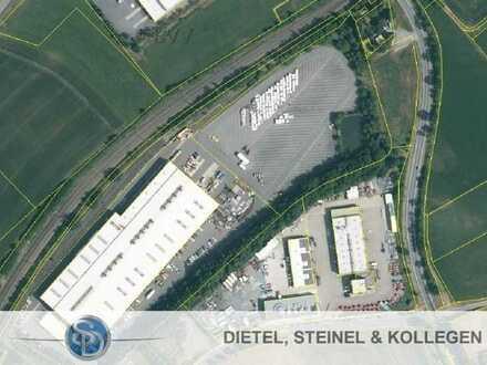 asphaltierte Freifläche/Lagerfläche ca. 10.000 m² - Stadtrand von Hof - nur ca. 9 Minuten zur A