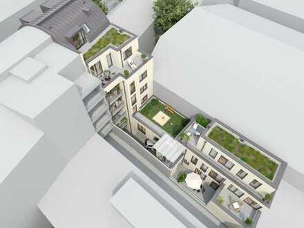 Mitten in der Stadt! Ruhige 3-Zimmer-Maisonettewohnung mit 2 Dachterrassen!