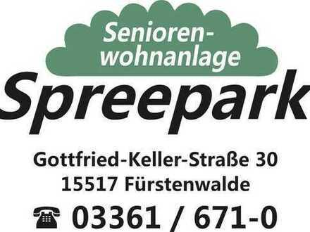 Betreutes Wohnen in der Seniorenwohnanlage Spreepark Fürstenwalde, 1 + 2 Zimmer Whg mit Balkon