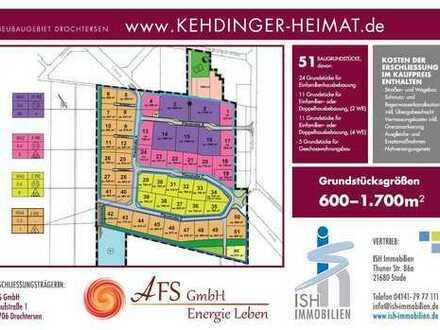 Drochtersen: Neubaugebiet mit 51 Grundstücken! Geld sparen beim Hausbau?!