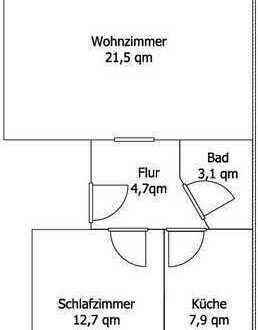 2 Zi. Whg. in Utbremen / renoviert / Blick zum Park / 55 qm / Garage + Carport