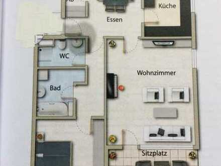 Stilvolle, modernisierte 2,5-Zimmer-EG-Wohnung mit Terrasse und Einbauküche in Ravensburg