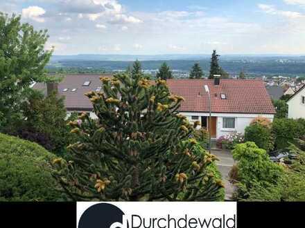 Gepflegte Doppelhaushälfte mit schön bepflanztem Garten in ruhiger Höhenlage von Esslingen