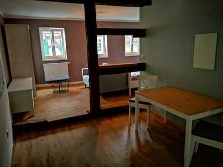 Erstbezug nach Sanierung: stilvolle möblierte 1,5-Zimmer-Wohnung mit Einbauküche in Rems-Murr-Kreis