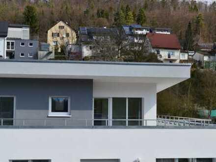 Erstbezug 3-Zimmer-Wohnung mit Traumterrasse Garage, Stellplatz, Abstellraum und Hobbyraum!