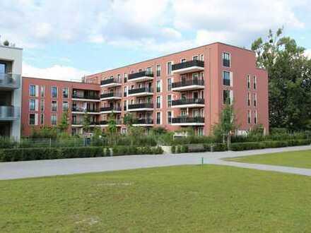 Neubau: Moderne und helle 2,5-Zimmer-Gartenwohnung mit Terrasse und Küche!