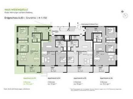 A.03 - 3 Zimmerwohnung im Erdgeschoss mit SW-Ausrichtung - HAUS WIESENQUELLE Feldberg