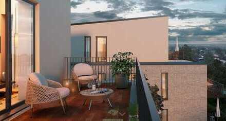 Neubau in Achim: Gut geschnittene Zwei-Zimmer-Wohnung mit Blick ins Grüne