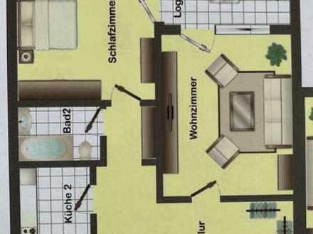 Exklusive 2,5-Zimmer-Erdgeschosswohnung mit Balkon in Bad urach