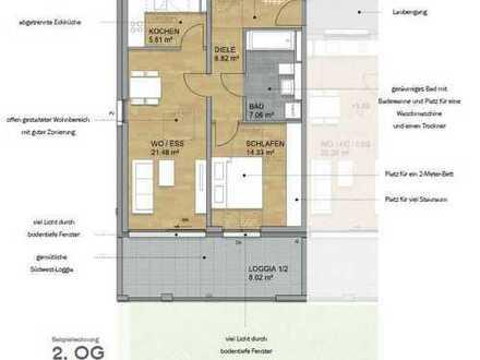 XXL Variante - Atelierwohnung mit goßem Wohlfühlbad und Süd-Loggia (Nr.7)