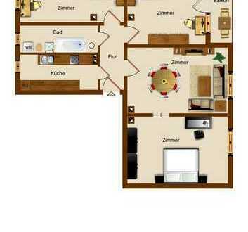 **TOP 4-Raum Wohnung mit Balkon**