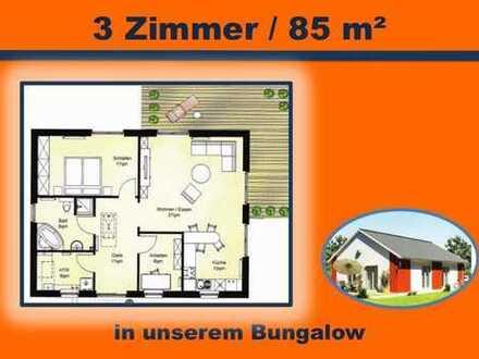 BUNGALOW mit 85 m² Wohnfläche - 3 oder 4 Zimmer - schönes wohnen