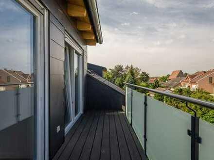 Dachgeschossaufbau - klimatisiert! Neu! 4-Zi Wohnung mit Loggia in ruhiger Lage