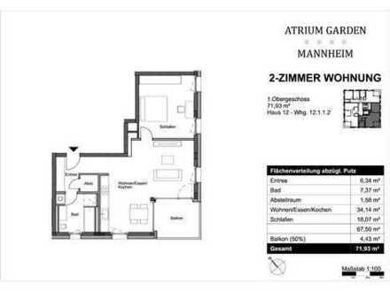 Großzügig & hell - 2-Zimmer-Wohnung - ideal auch als Kapitalanlage