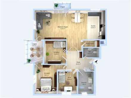 Exklusive 4-Zimmer-Wohnung auf ca. 125 m² Wohnfläche mit eigenem Gartenanteil