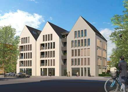 3 - Zimmer Neubau-Wohnung (Erstbezug) Nr. 7 in Ulm (Auf dem Kreuz)