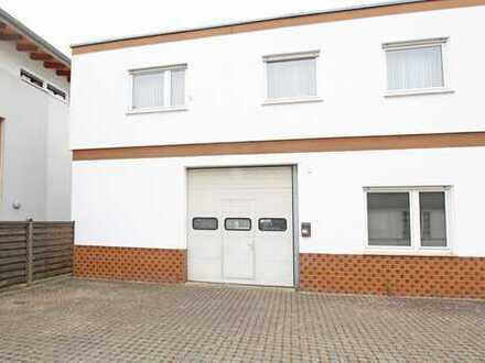 PROVISIONSFREI für Käufer – 2-Parteienhaus mit ETW im OG und Werkstatt im EG in Riedstadt-Erfelden