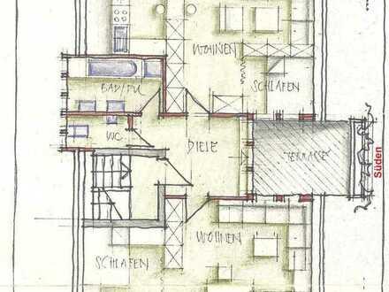 Schöne 2-Zimmer-DG-Wohnung mit Balkon und Einbauküche in Eisingen
